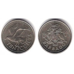 (12) Barbados. 1990. 10 Cents (SC)