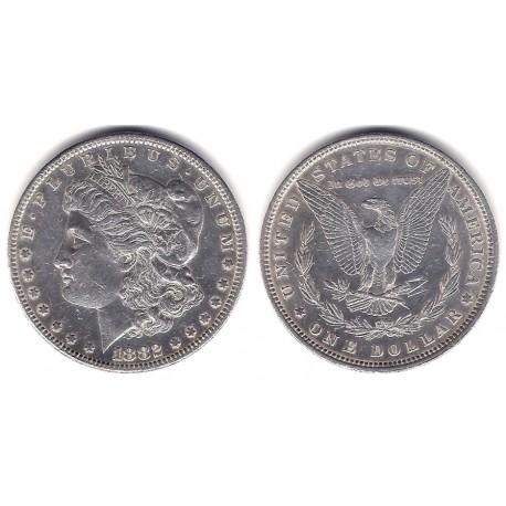 (110) Estados Unidos de América. 1882. 1 Dollar (EBC-) (Plata)