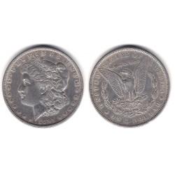 (110) Estados Unidos de América. 1891. 1 Dollar (MBC+) (Plata)