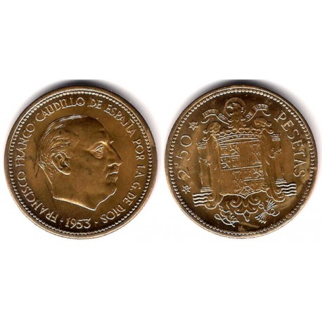 Estado Español. 1953*(19-56). 2½ Pesetas (SC)