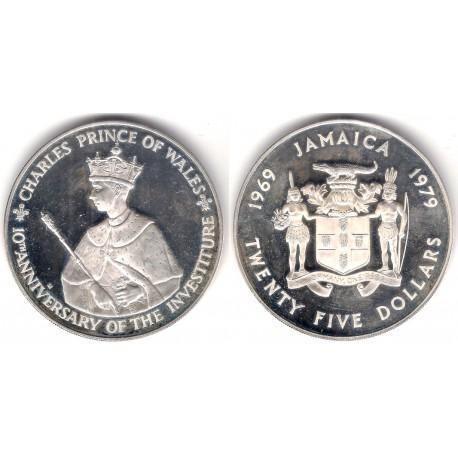 (81) Jamaica. 1979. 25 Dollars (EBC/Proof) (Plata) 136 gr. de .925