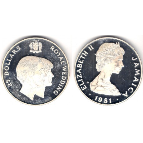 (94) Jamaica. 1981. 25 Dollars (EBC/Proof) (Plata) 136gr. de .925
