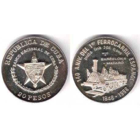 (233) Cuba. 1988. 20 Pesos (SC) (Plata)
