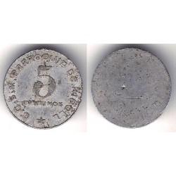 C.C.S.M. Parroquia de Ripoll. 5 Céntimos (BC)