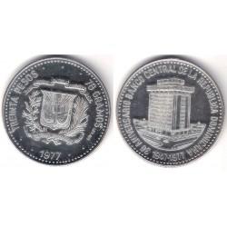 (46) República Dominicana. 1977. 30 Pesos (Proof) (Plata)