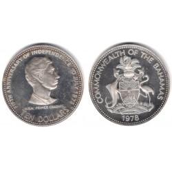 (78) Bahamas. 1978. 10 Dollars (EBC) (Plata)