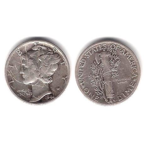 (140) Estados Unidos de América. 1944. 1 Dime (MBC) (Plata)