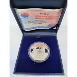 España. 2003. 10 Euro (Proof) (Plata) XXV Aniv. Constitución Española