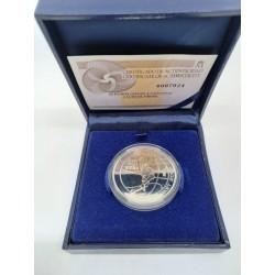 España. 2007. 10 Euro (Proof) (Plata) EuroBasket 07
