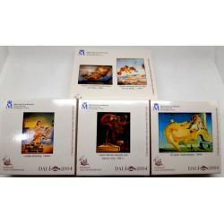España. 2004. Serie Compelta (10+10+10+50 Euro) (Proof) (Plata) Salvador Dalí