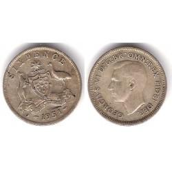 (45) Australia. 1951. 6 Pence (MBC) (Plata)