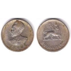 (37) Etiopía. 1936. 50 Cents (BC+) (Plata)