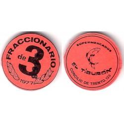Supermercados El Tiburón. 1978. Fraccionario de 3 (EBC+)