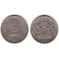 (14) Nigeria. 1991. 1 Naira (BC/BC-)