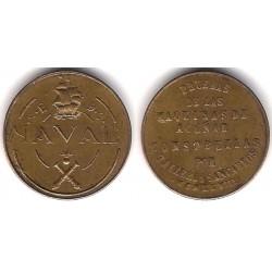 Estado Español. 1948. 1 Peseta (EBC) Naval. No Coincidente