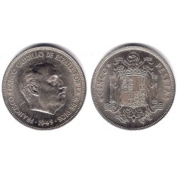 Estado Español. 1949*(19-50). 5 Pesetas (EBC)