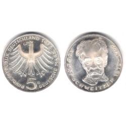(143) Alemania. 1975(G). 5 Mark (SC-) (Plata)