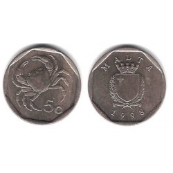 (95) Malta. 1998. 5 Cents (MBC)