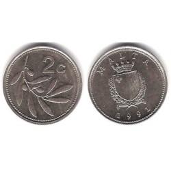 (94) Malta. 1991. 2 Cents (EBC)