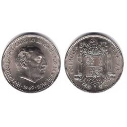 Estado Español. 1949*(19-49). 5 Pesetas (EBC)