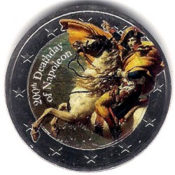 Europa. Sin Fecha. 2 Euro (SC) 200 Aniversario de la Muerte de Napoleón. Coloreada