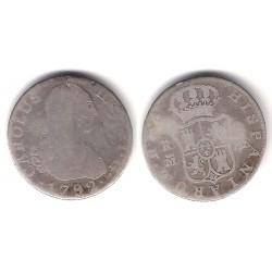 Carlos IV. 1792. 2 Reales (BC-) (Plata) Ceca de Madrid MF
