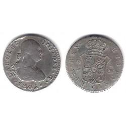 Carlos IV. 1802. 1 Real (BC+) (Plata) Ceca de Sevilla CN