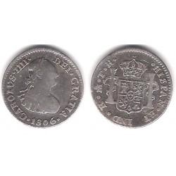 Carlos IV. 1806. ½ Real (BC) (Plata) Ceca de Mejico TH