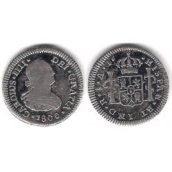 Carlos IV. 1800. ½ Real (BC) (Plata) Ceca de Santiago AJ