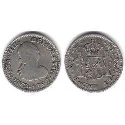Carlos IV. 1798. ½ Real (BC+) (Plata) Ceca de Mejico FM