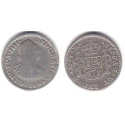 Carlos IV. 1800. ½ Real (BC) (Plata) Ceca de Mejico FM