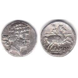 Bolscan (Huesca). 180-20 a.C. Denario (MBC) (Plata)