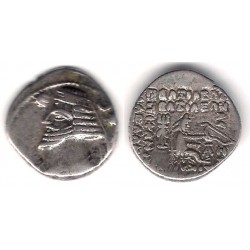 Imperio Parto (Orodes II). 55-36 a.C. Drachma (MBC) (Plata)