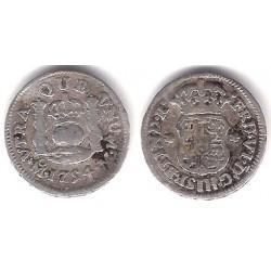Fernando VI. 1754. ½ Real (BC+) (Plata) Ceca de Méjico M
