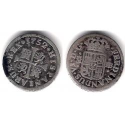 Fernando VI. 1752. ½ Real (BC) (Plata) Ceca de Madrid JB
