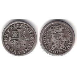 Fernando VI. 1752. ½ Real (MBC-) (Plata) Ceca de Madrid JB