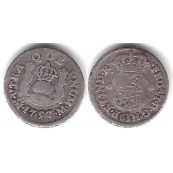 Fernando VI. 1757. ½ Real (BC/BC+) (Plata) Ceca de Méjico M