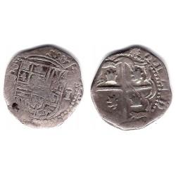 Felipe II. Sin Fecha. 1 Real (BC) (Plata) Ceca de Potosí B
