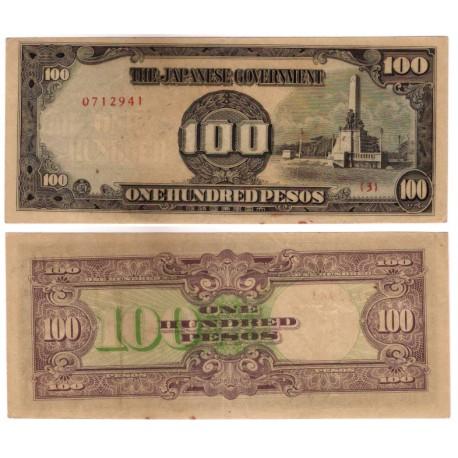 (112) Filipinas. 1944. 100 Pesos (SC-) Manchas