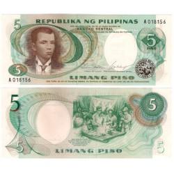 (143a) Filipinas. 1969. 5 Piso (SC)
