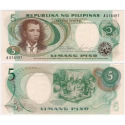(143b) Filipinas. 1969. 5 Piso (SC)