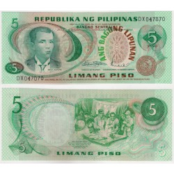 (153a) Filipinas. 1970. 5 Piso (SC)