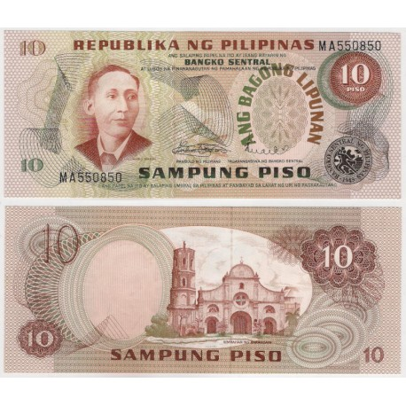 (161) Filipinas. 1978. 10 Piso (SC)