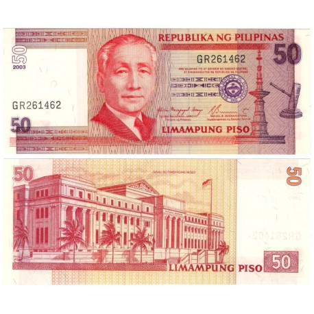 (193) Filipinas. 2003. 50 Piso (SC)