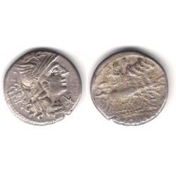 Antestia. 136 a.C. Denario (MBC) (Plata)