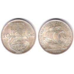 (586) Portugal. 1954. 10 Escudos (SC) (Plata)