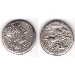 Domitia. 128 a.C. Denario (MBC-) (Plata)