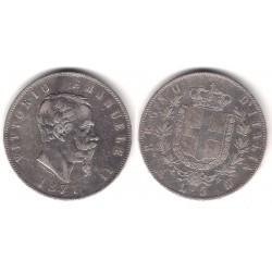 (8.3) Italia. 1871. 5 Lira (MBC-) (Plata)