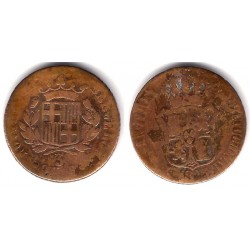 Fernando VII. 1823. 3 Cuartos (BC/BC-) Ceca de Barcelona