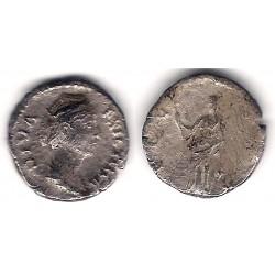 Diva Faustina. 141 d.C. Denario (BC-) (Plata)